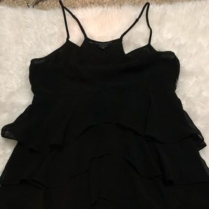 Guess Black Tiered Top